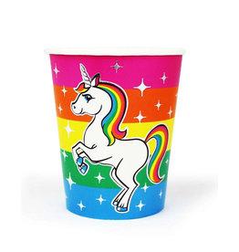PRIME PARTY Rainbow Unicorn 9oz Cups (8 Pack)