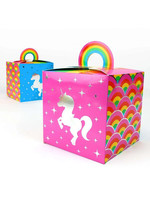 PRIME PARTY Rainbow Unicorn Favor Boxes (8 Pack)
