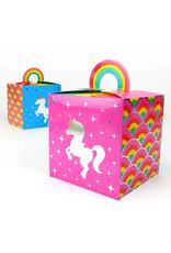 PRIME PARTY Rainbow Unicorn Favor Boxes (8 Pack)