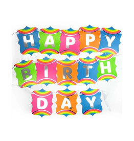 PRIME PARTY Rainbow Unicorn Jointed Happy Birthday Banner