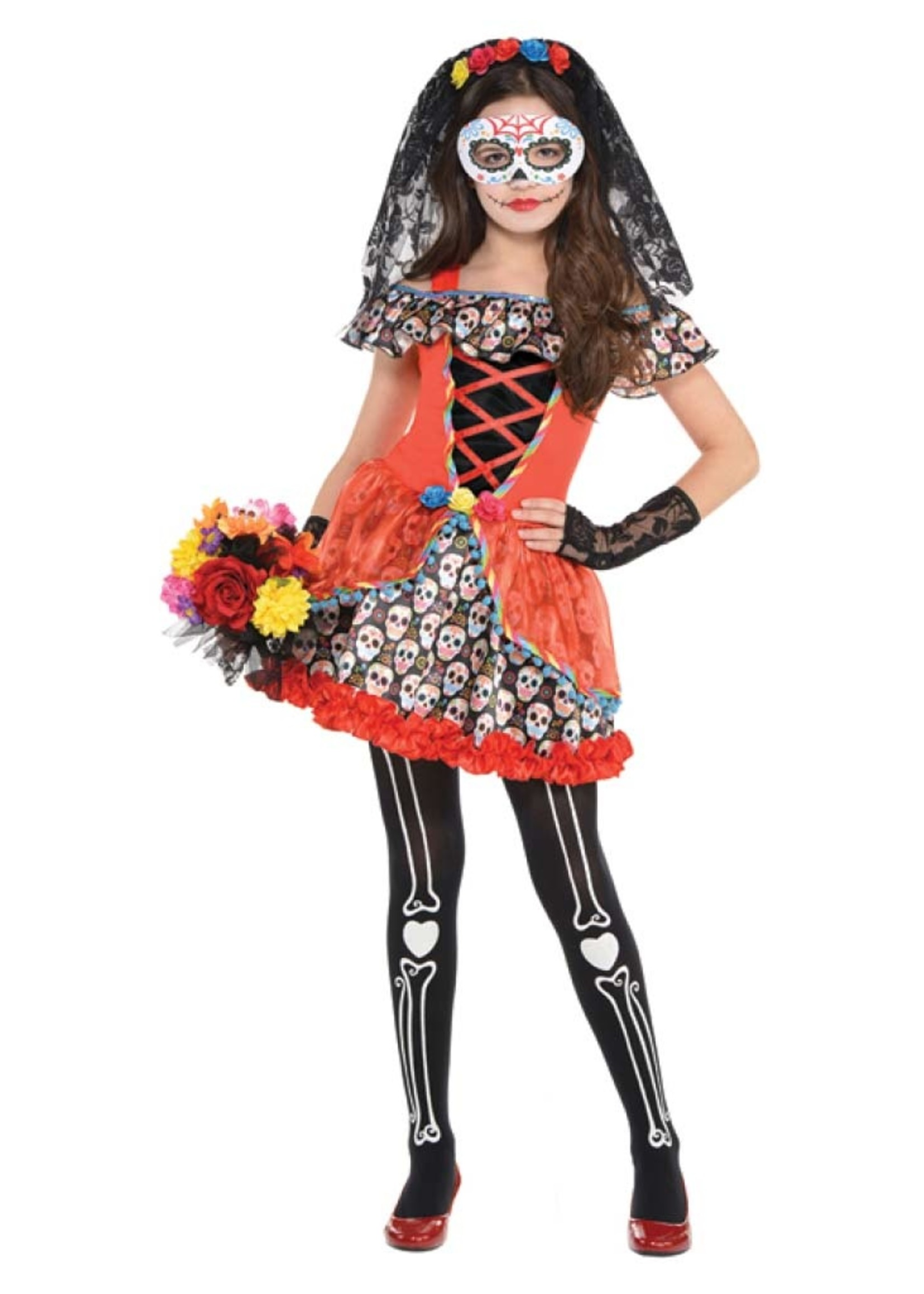 FUN WORLD Sugar Skull Senorita - Girls