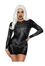 LEG AVENUE Rhinestone Skeleton Dress - Women's