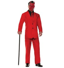 UNDERWRAPS Red Pinstripe Suit - Men's