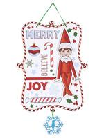 Glitter Elf on the Shelf Sign
