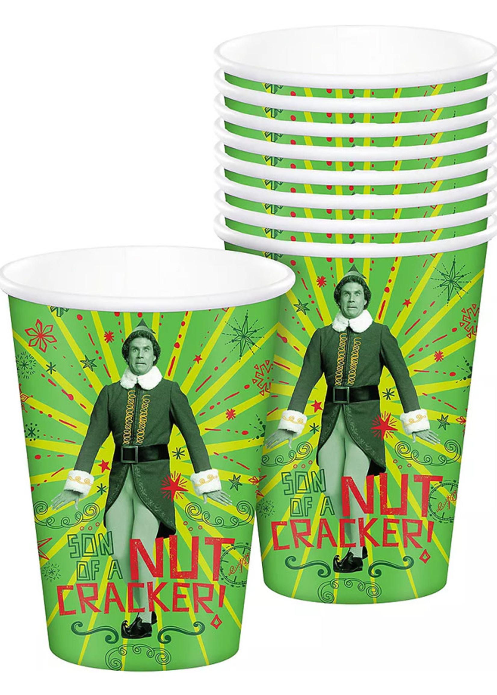 FORUM NOVELTIES Elf Paper Cups, 16oz, 8ct