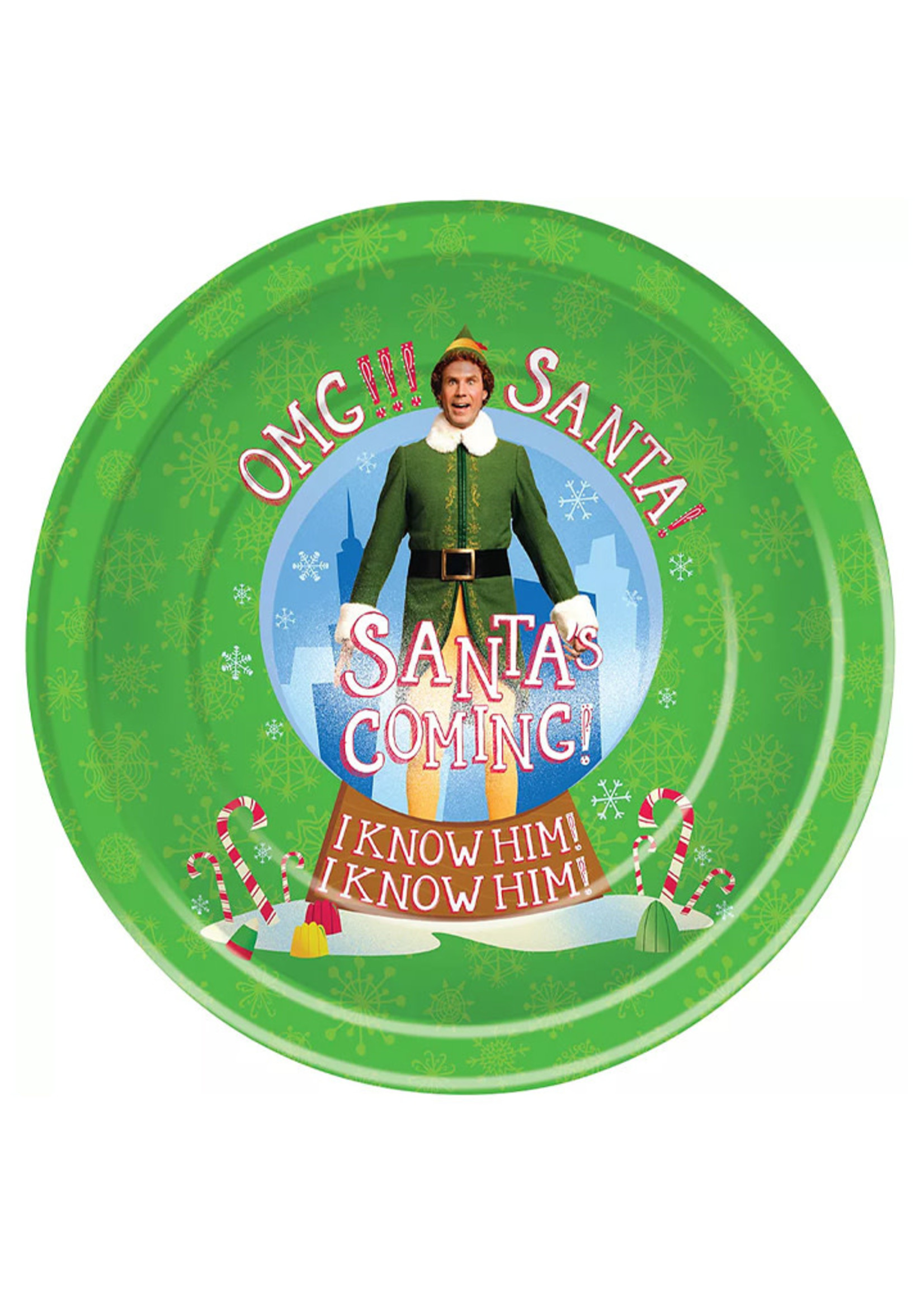 FORUM NOVELTIES Elf Paper Lunch Plates, 9in, 8ct