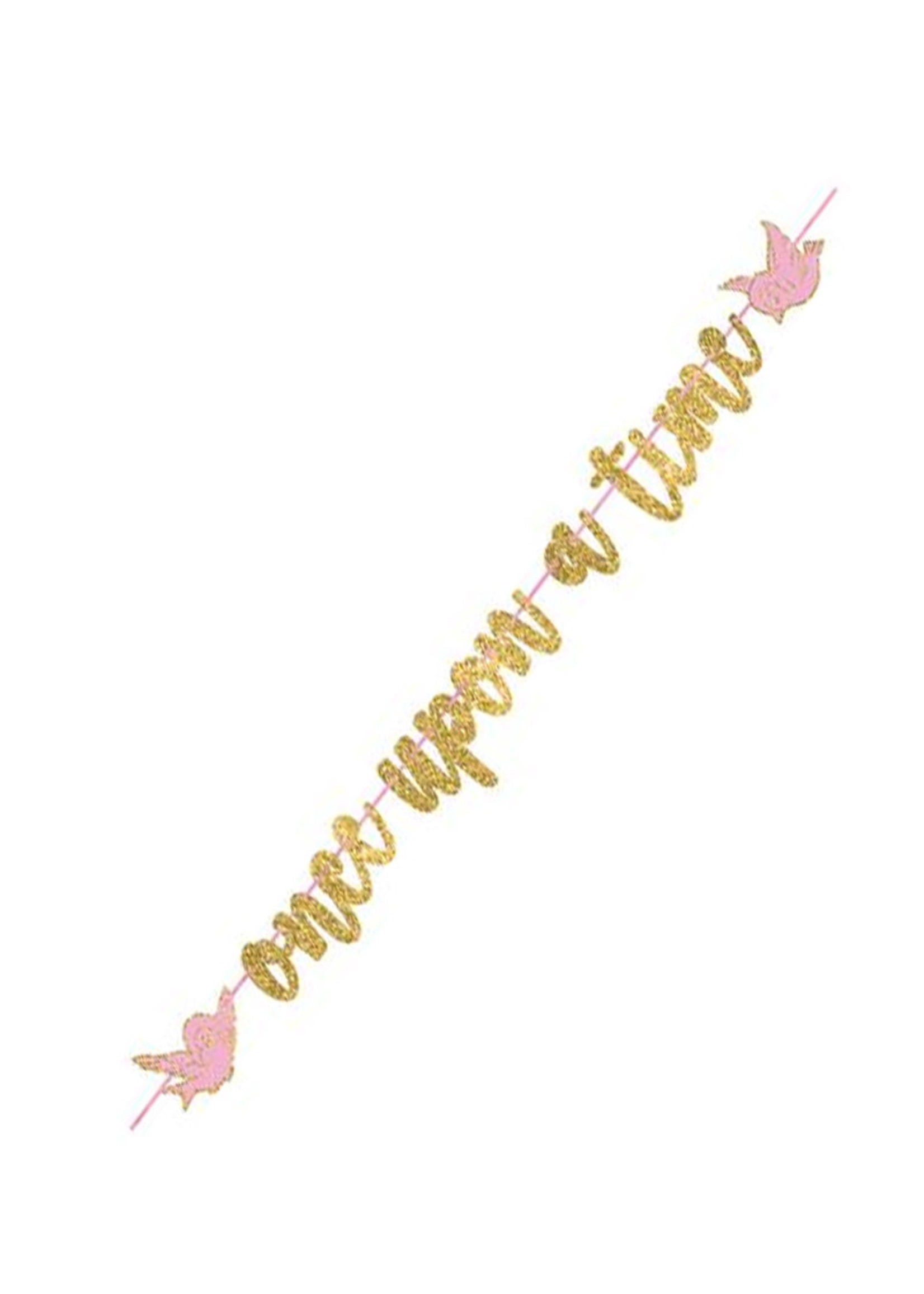 Disney Princess Once Upon A Time Glitter Letter Banner