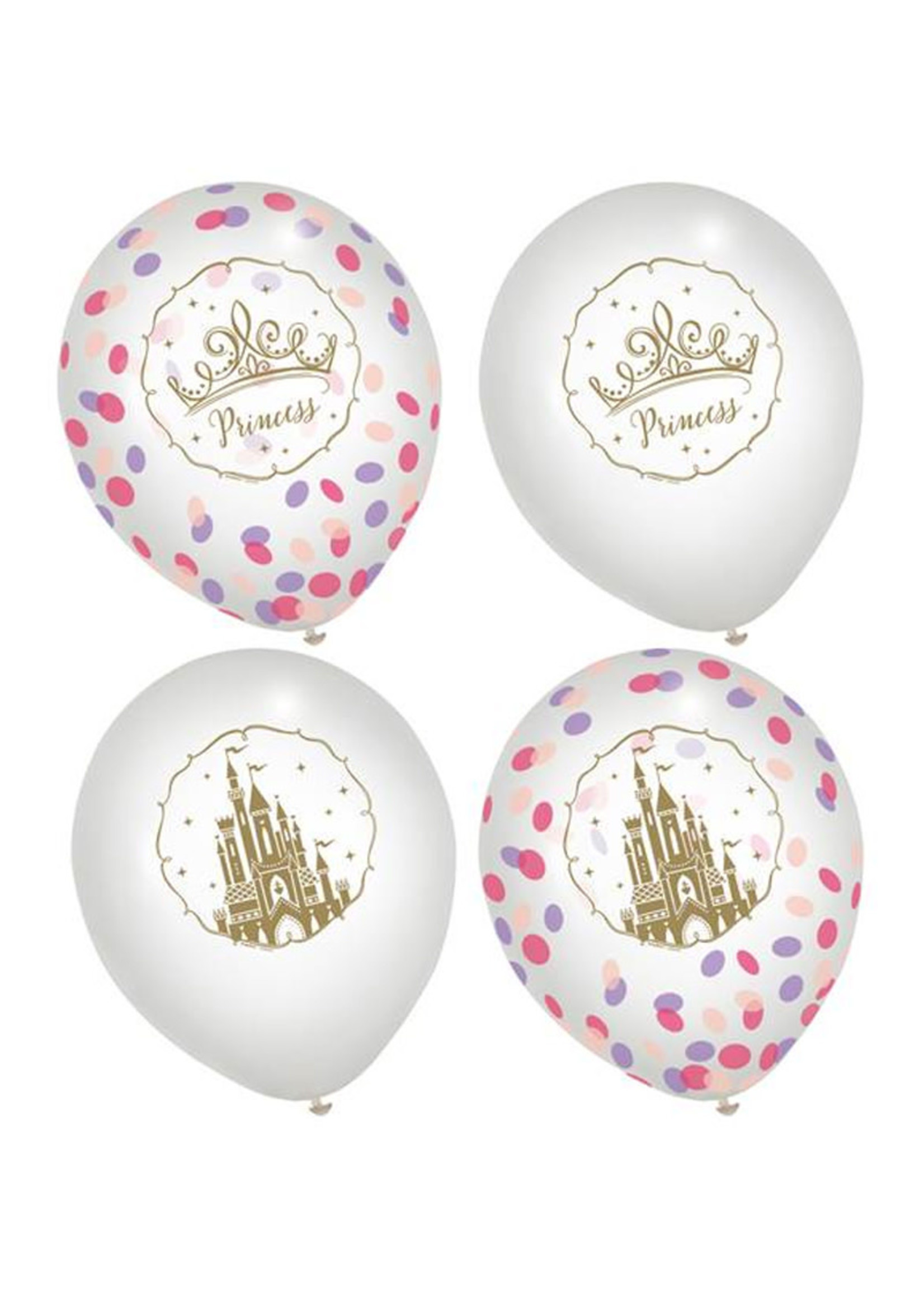 Disney Princess Once Upon A Time Latex Confetti Balloons
