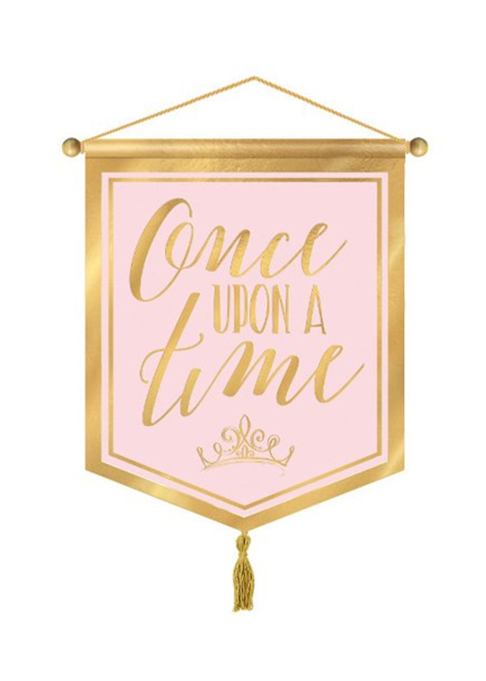Disney Princess 'Once Upon a Time' Hanging Canvas Sign