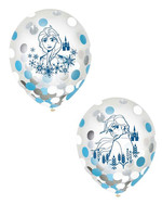 Frozen 12in Confetti Balloons - 6ct