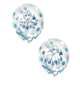 Frozen 12in Confetti Balloons - 6ct
