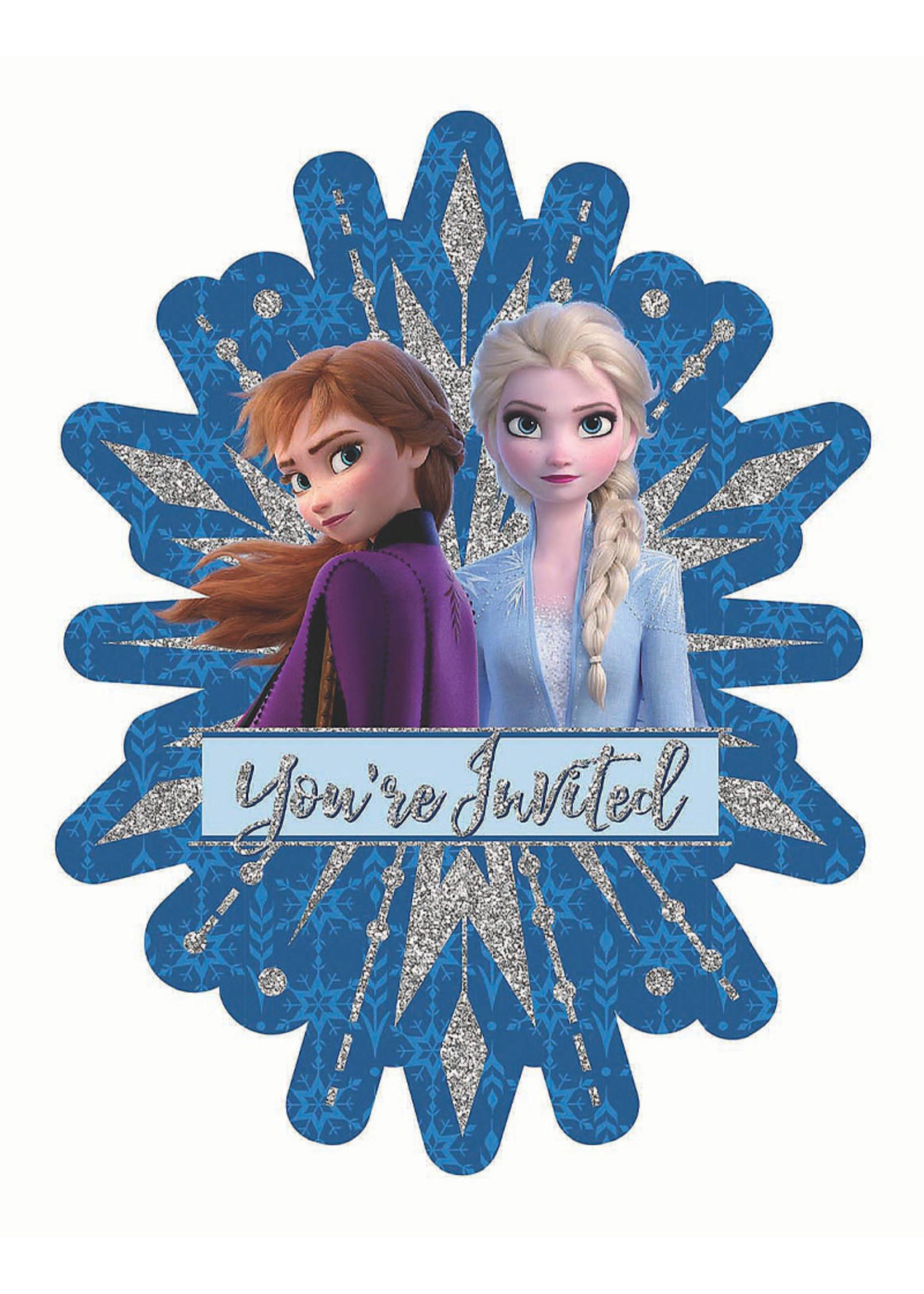 Frozen Jumbo Deluxe Invitations - 8ct