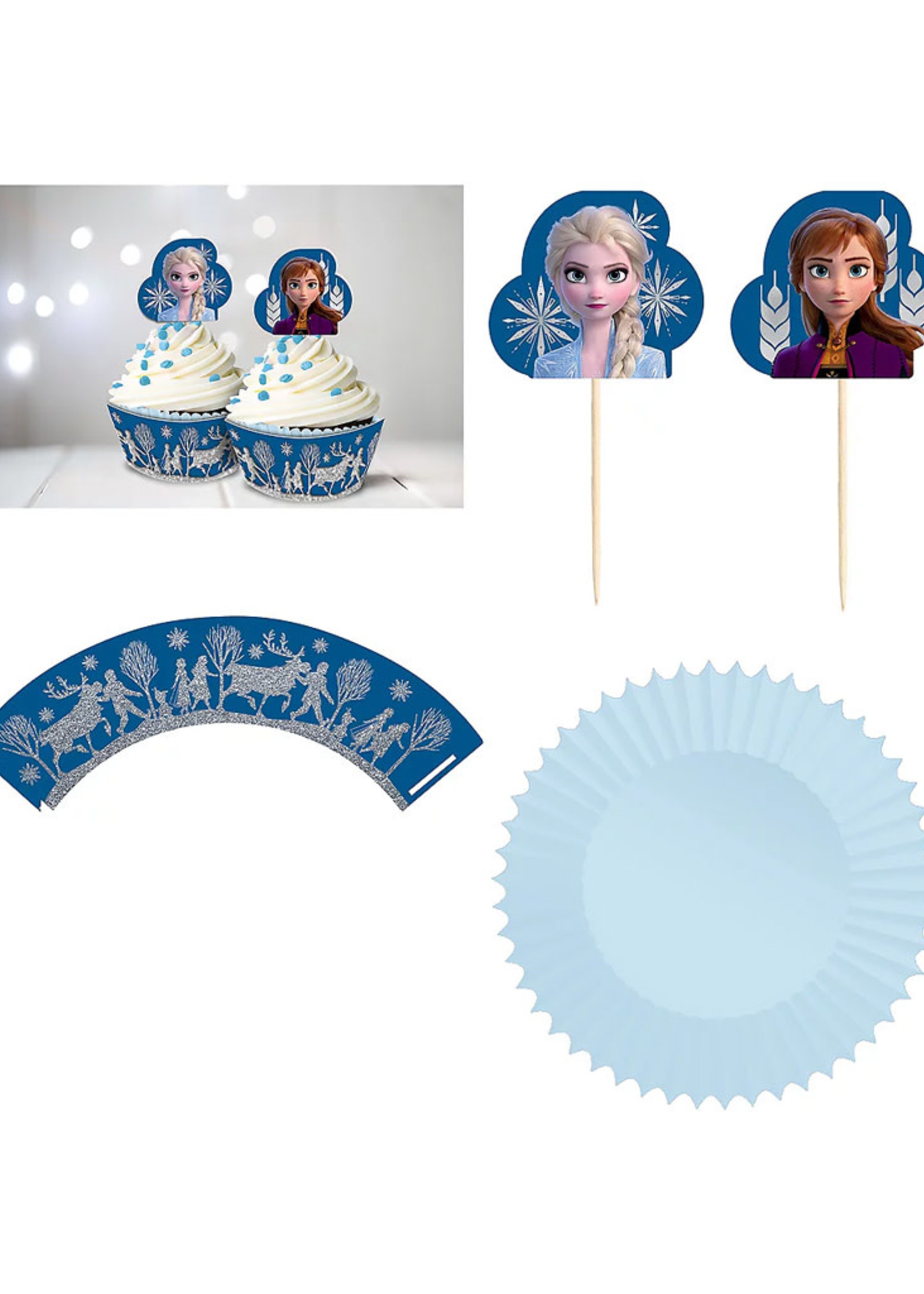 Disney Frozen Glitter Cupcake Kit - 24ct