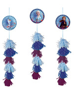 Disney Frozen Tassel Decorations - 3ct