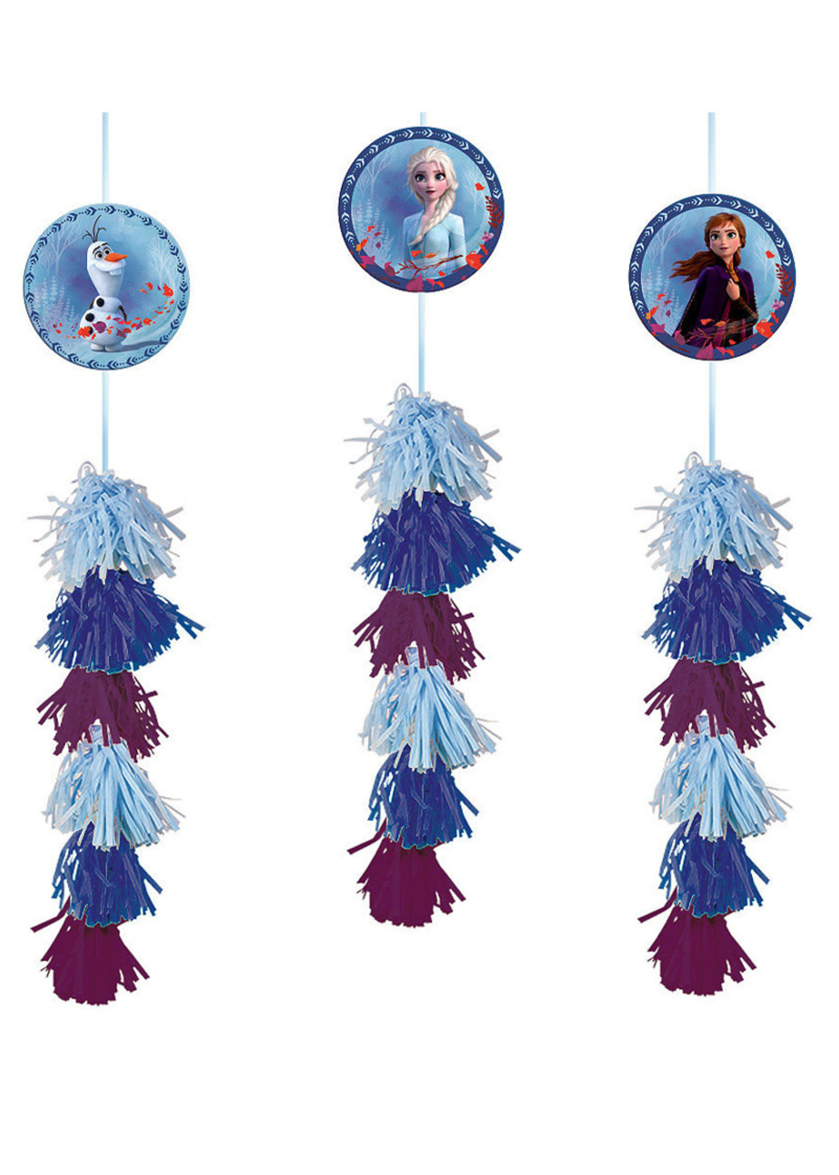 Disney Frozen Tassel Decorations - 3ct