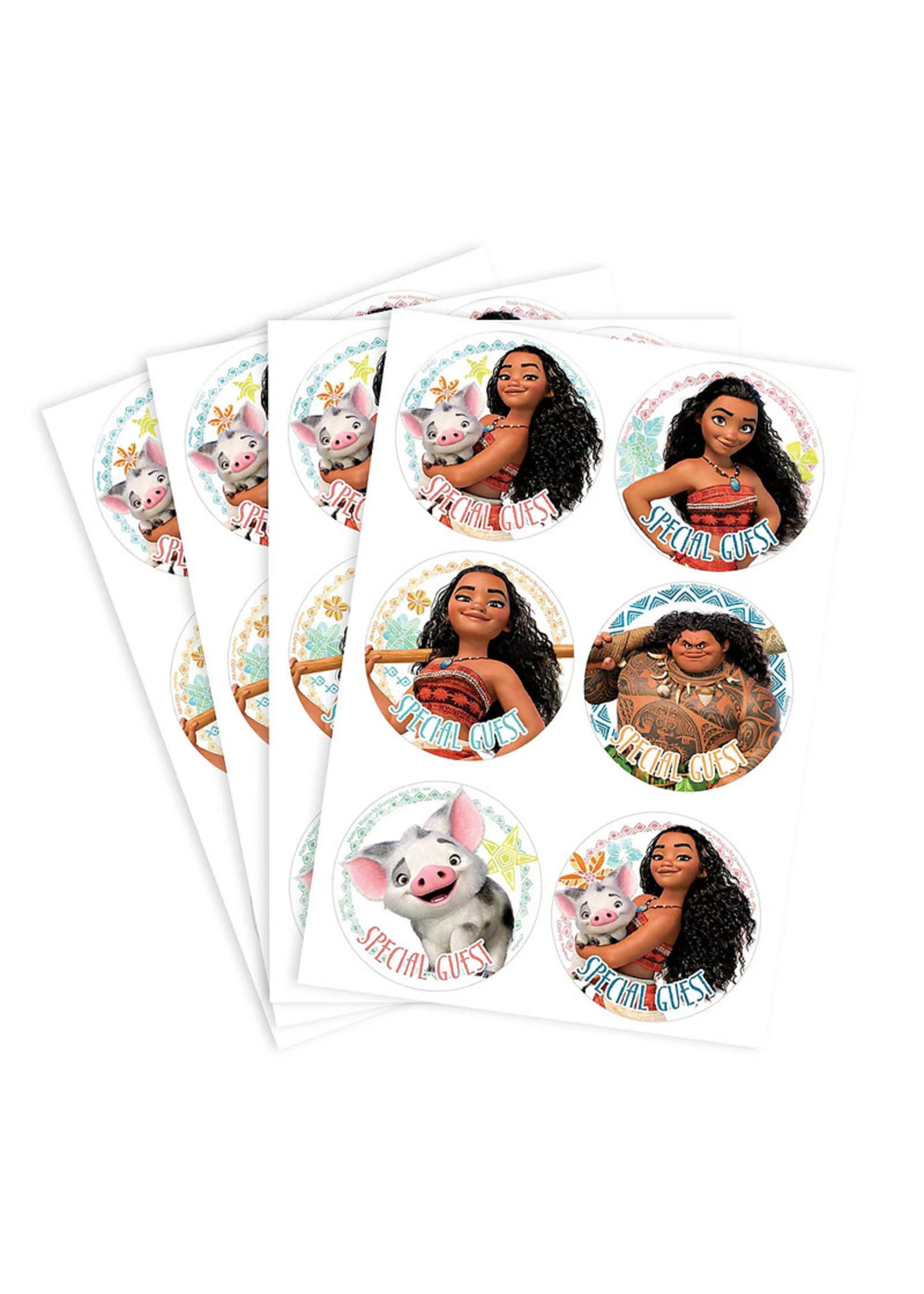 Moana Stickers - 4 Sheets