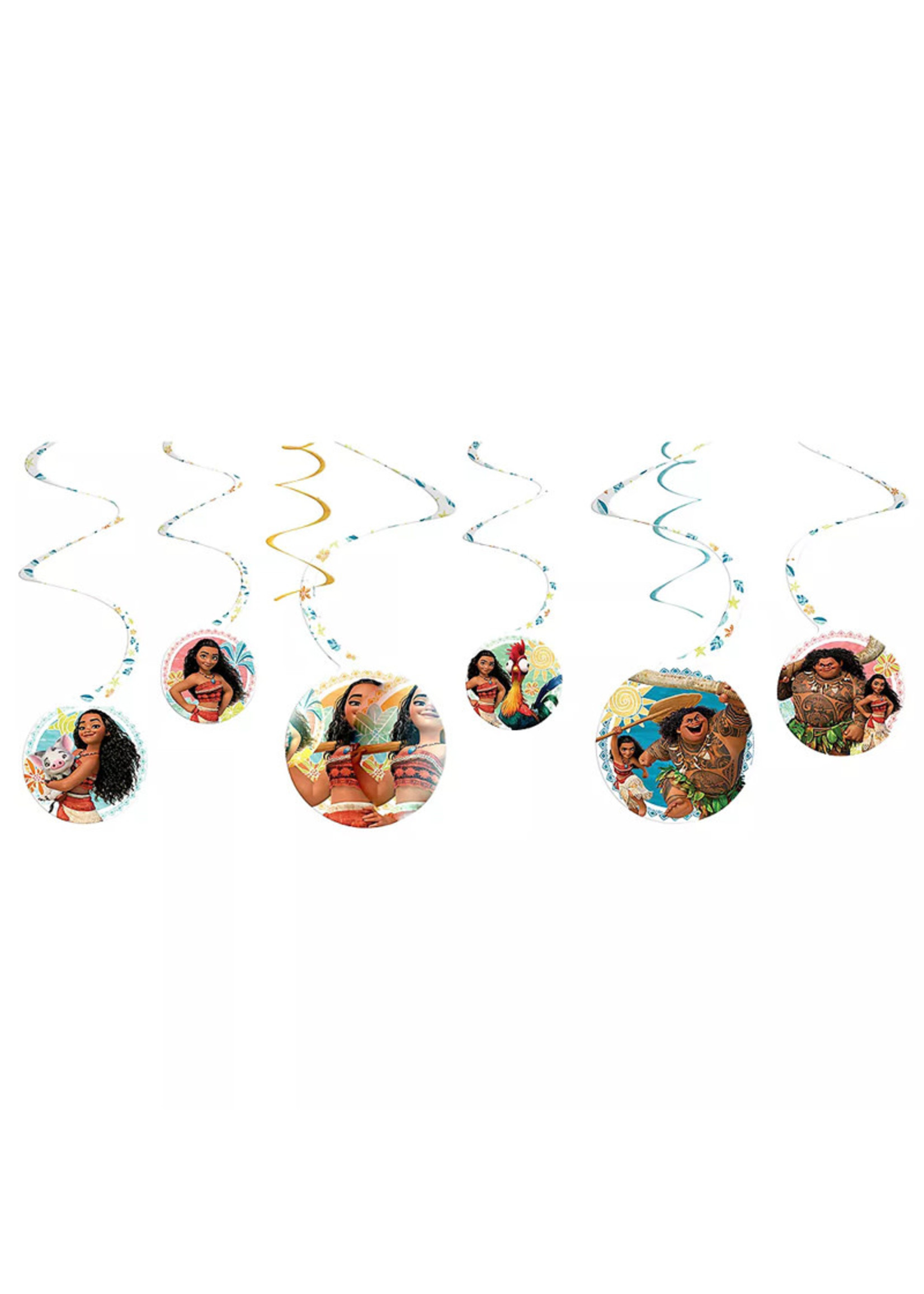 Moana Swirl Decorations 8ct