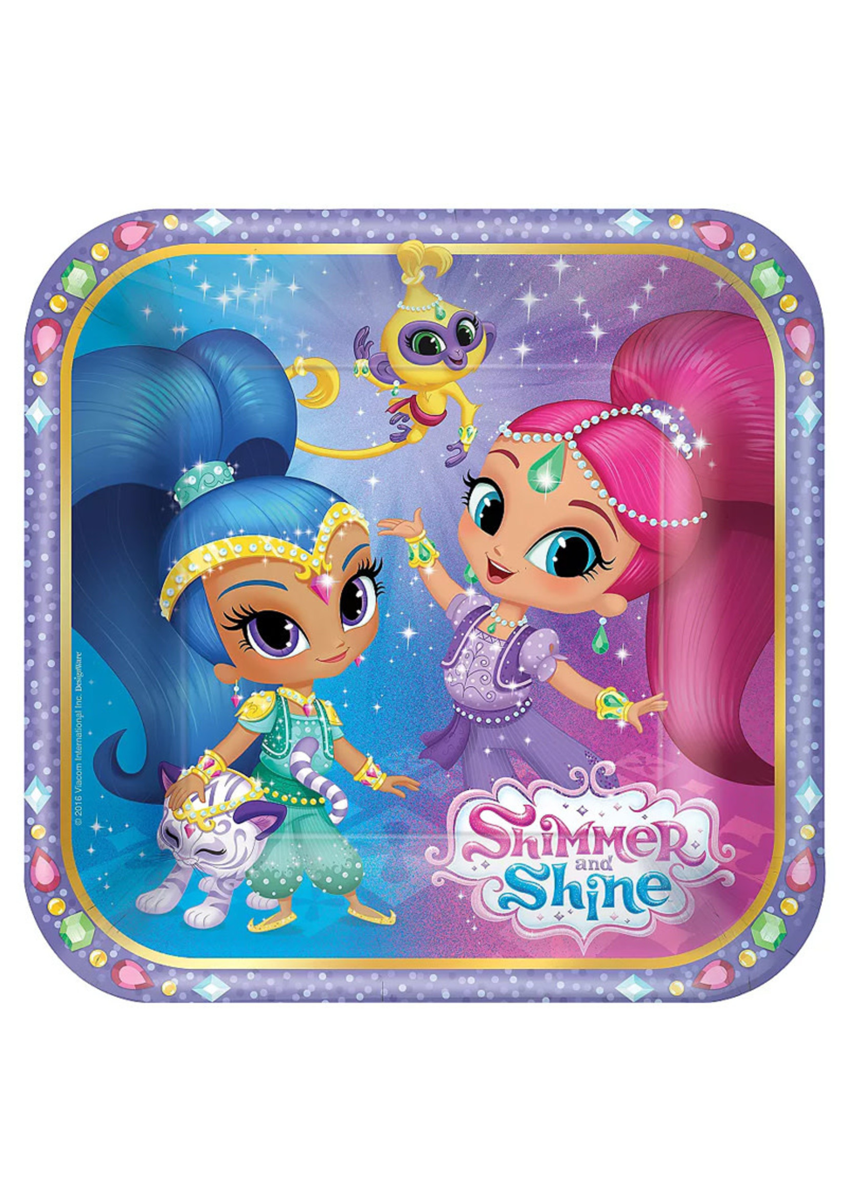 Shimmer and Shine Dessert Plates 8ct