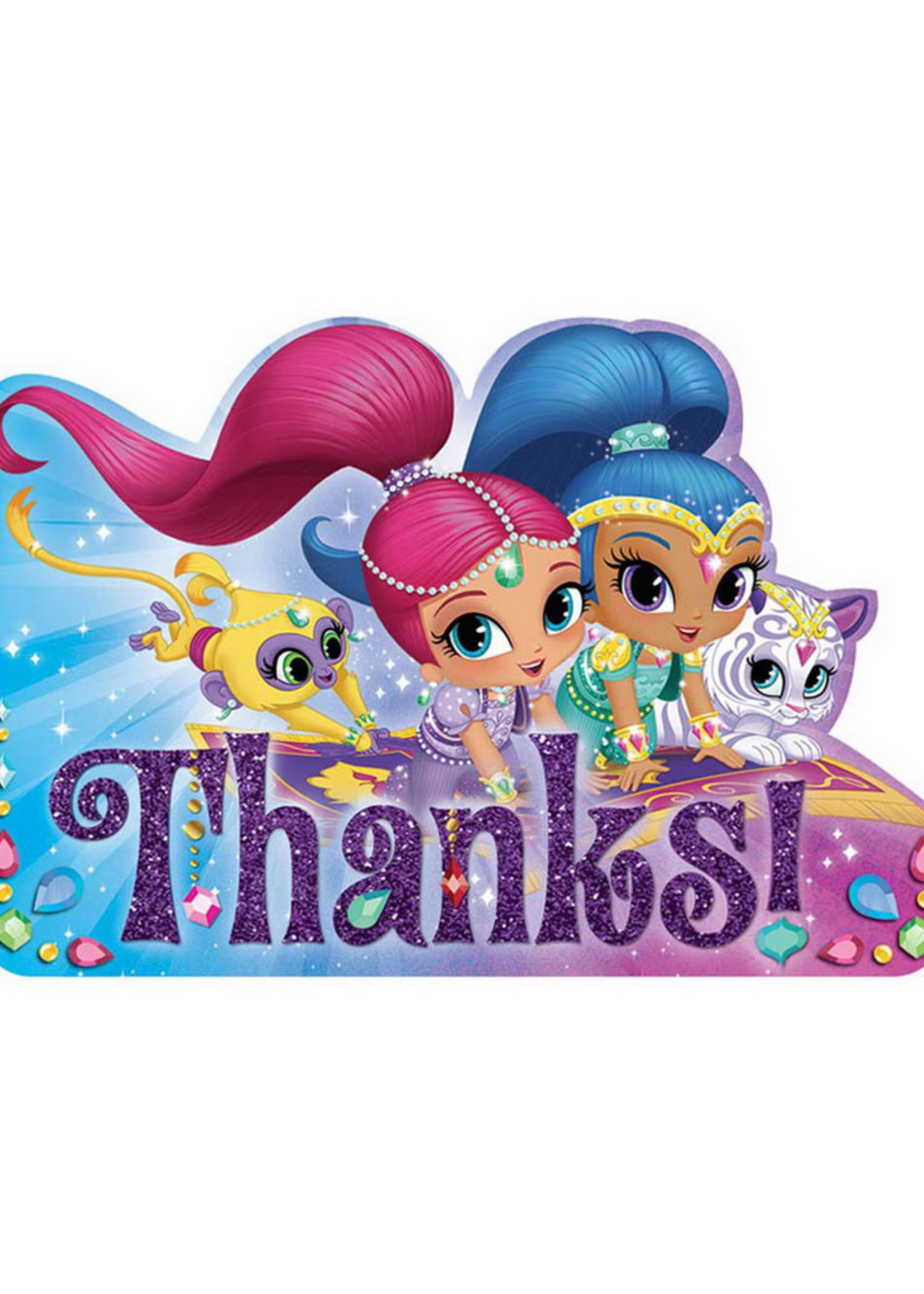Shimmer & Shine Thank You Cards - 8ct