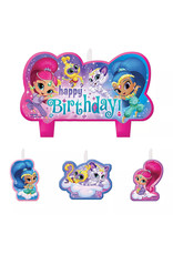 Shimmer and Shine Birthday Candles 4ct