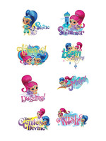 Shimmer and Shine Tattoos 1 Sheet
