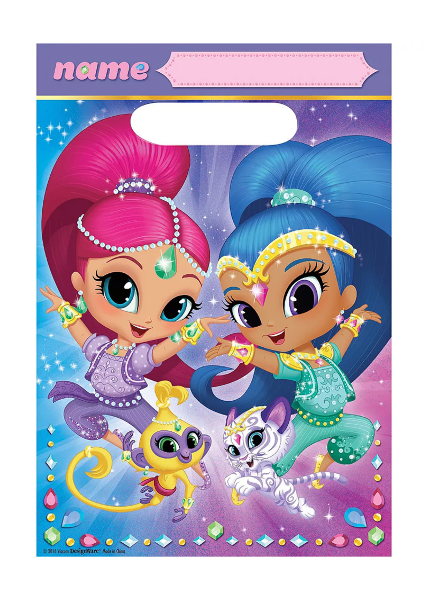 Shimmer and Shine Favor Bags 8ct
