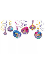 Shimmer and Shine Swirl Decorations 12ct