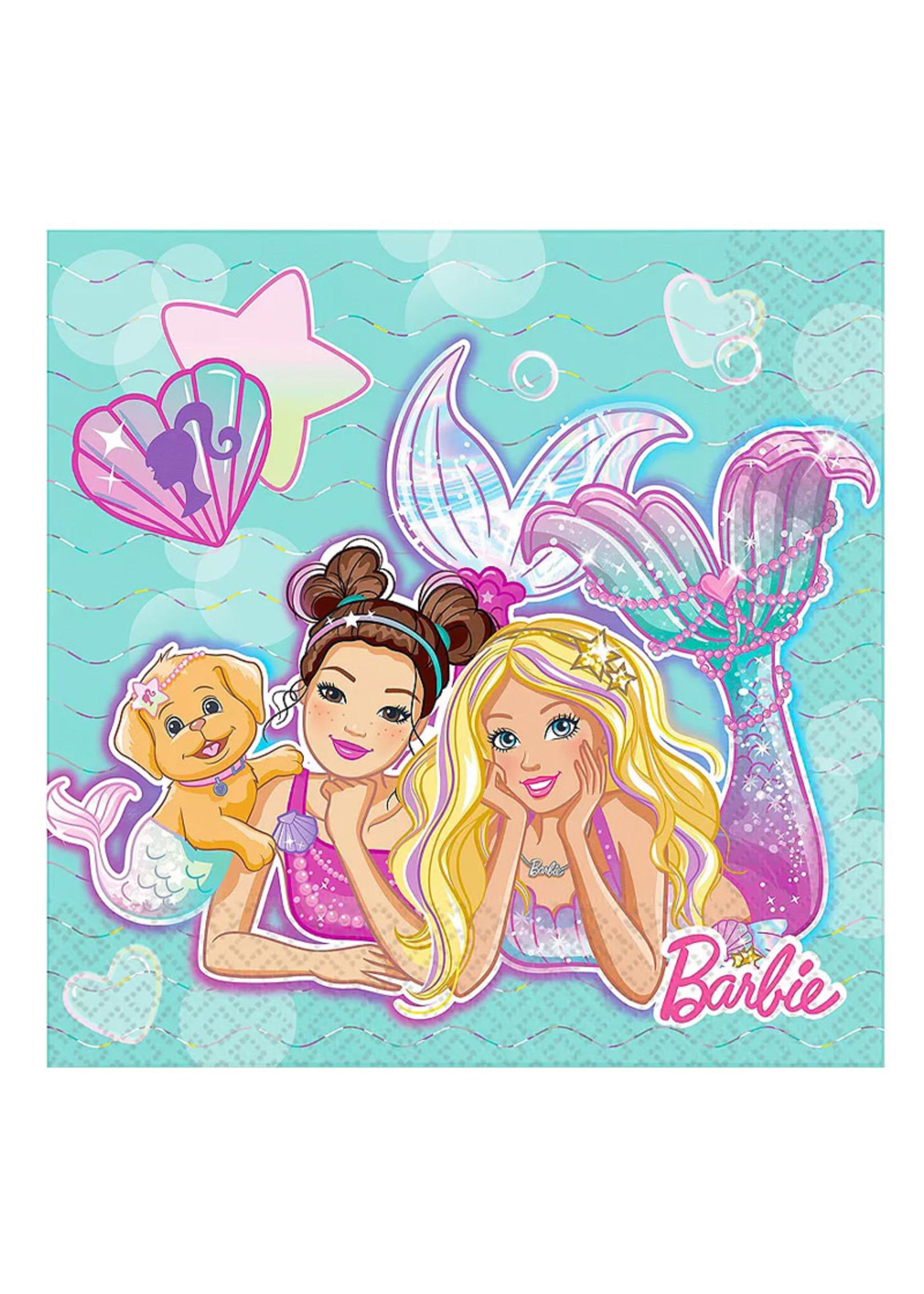 Barbie Mermaid Lunch Napkins 16ct