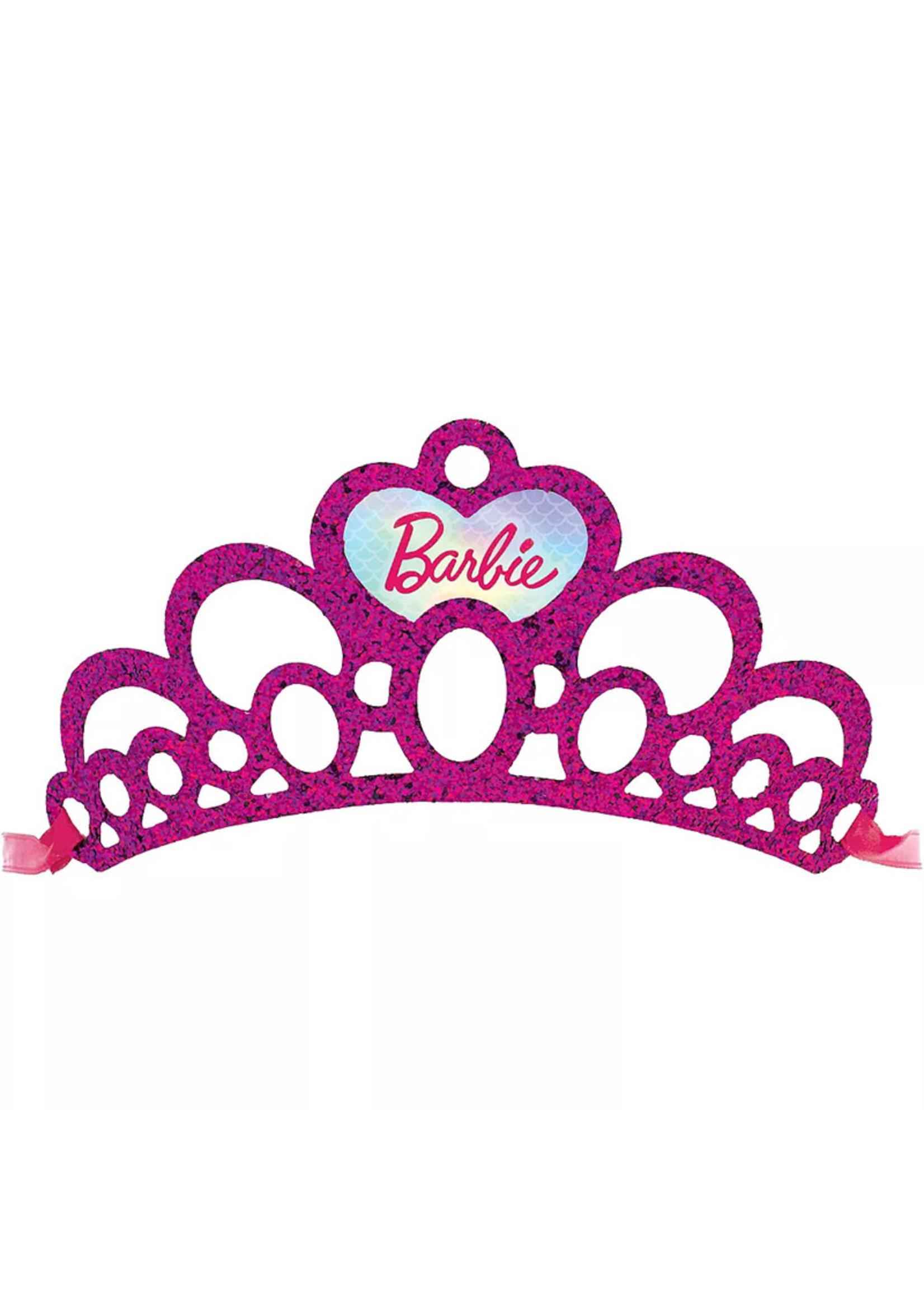 Glitter Barbie Mermaid Tiaras 8ct