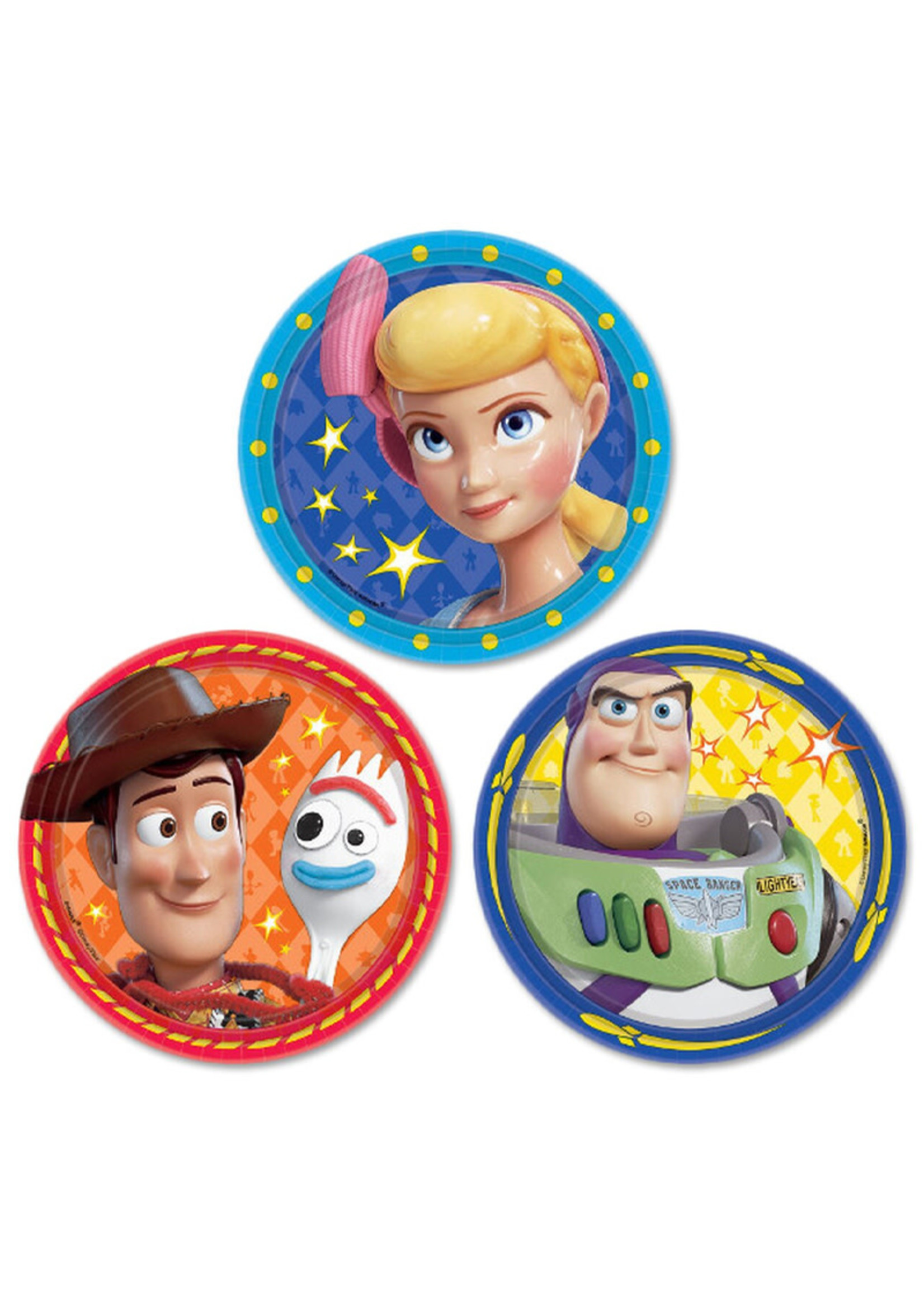 Toy Story 4 Assorted Dessert Plates 7 inch - 8 ct