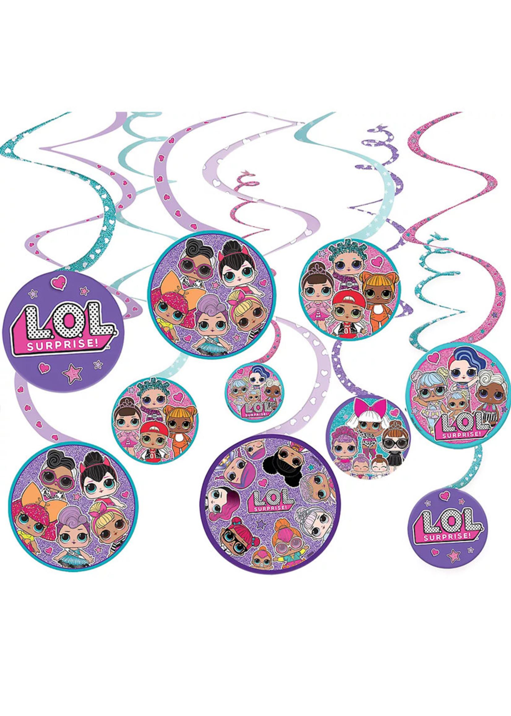 L.O.L. Surprise! Swirl Decorations 12ct