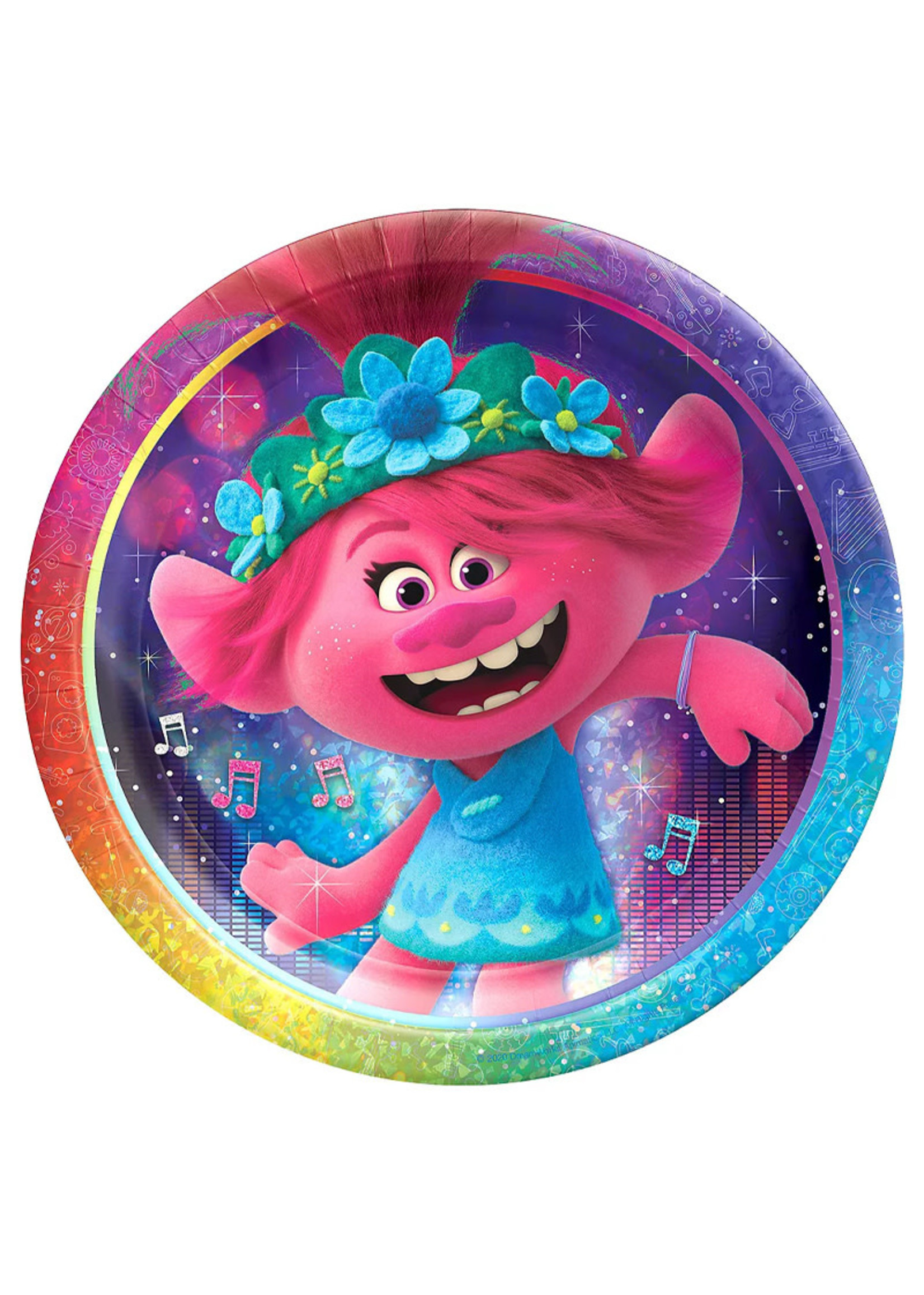 Trolls World Tour Lunch Plates 8ct