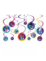 Trolls World Tour Swirl Decorations 12ct
