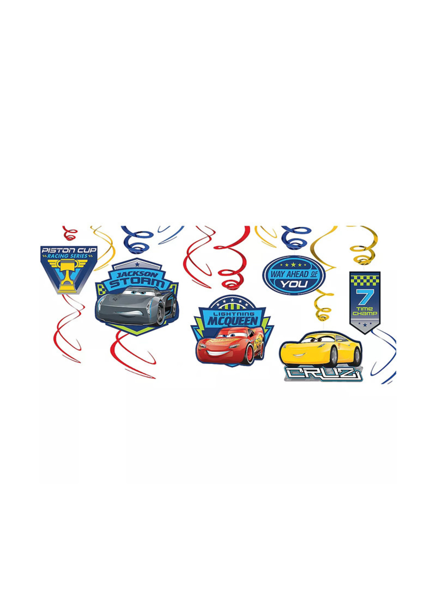 Cars 3 Swirl Decorations 12ct