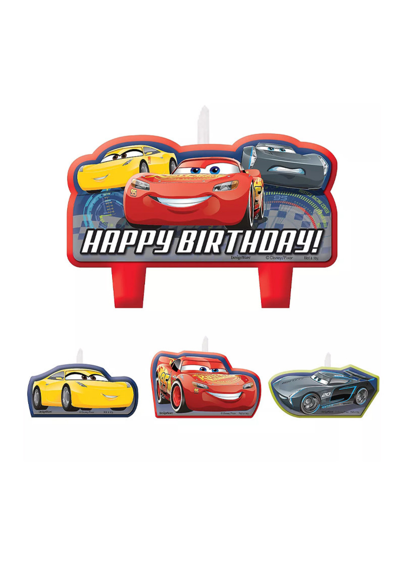Cars 3 Birthday Candles 4ct
