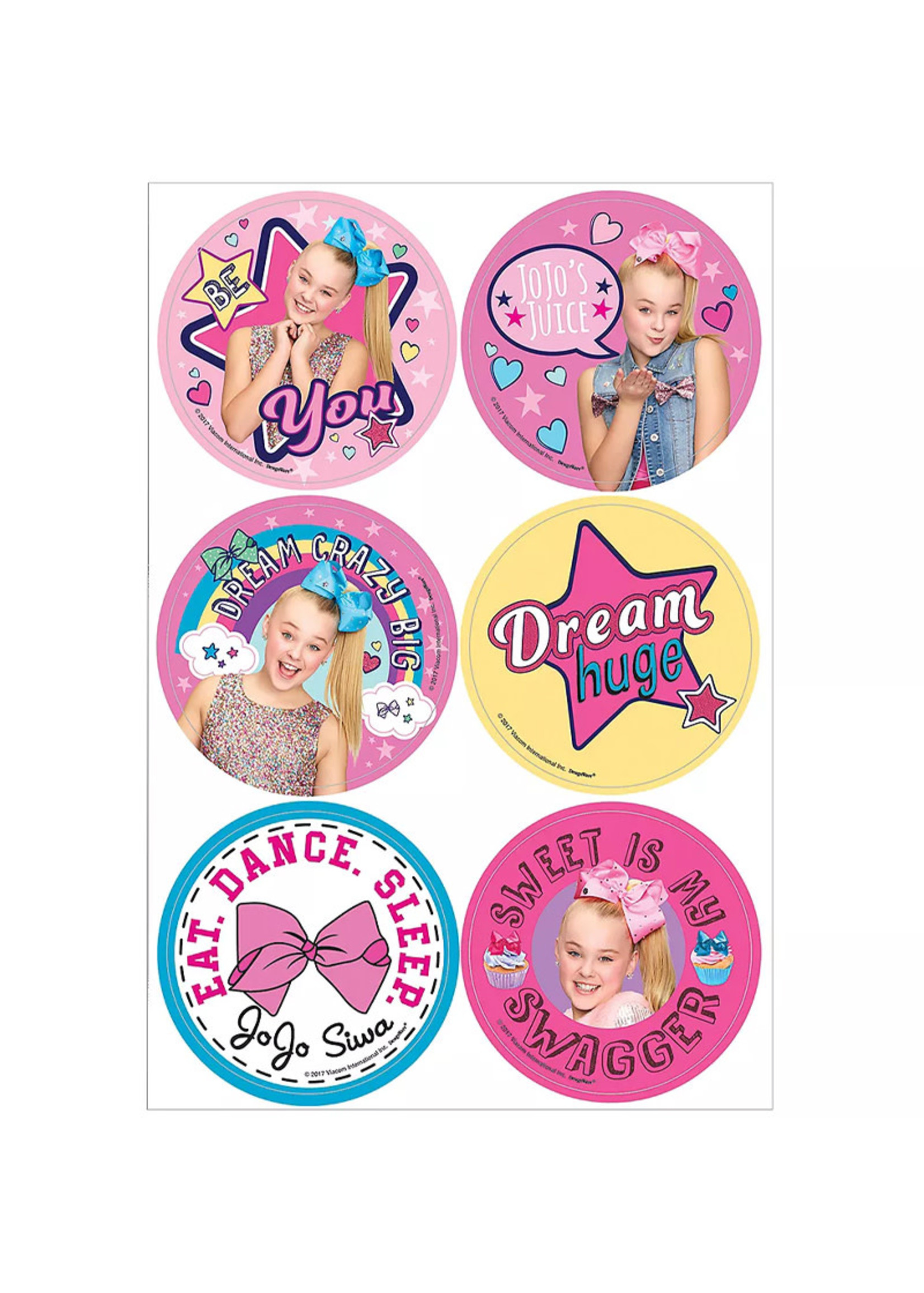 JoJo Siwa Stickers 4 Sheets