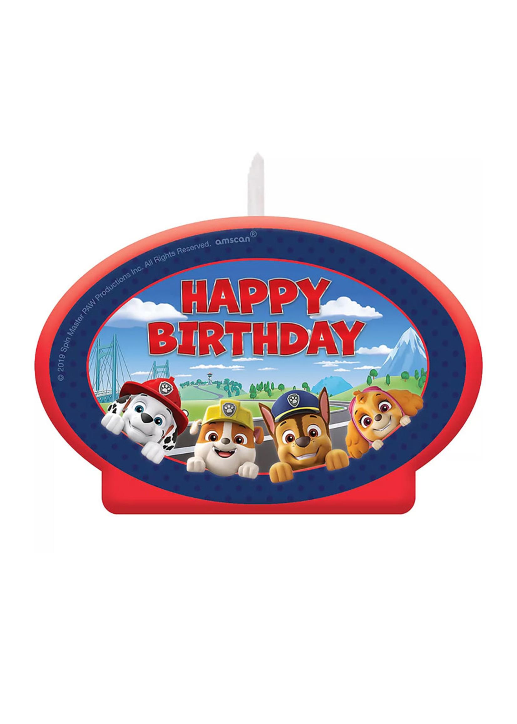 PAW Patrol Adventures Birthday Candle