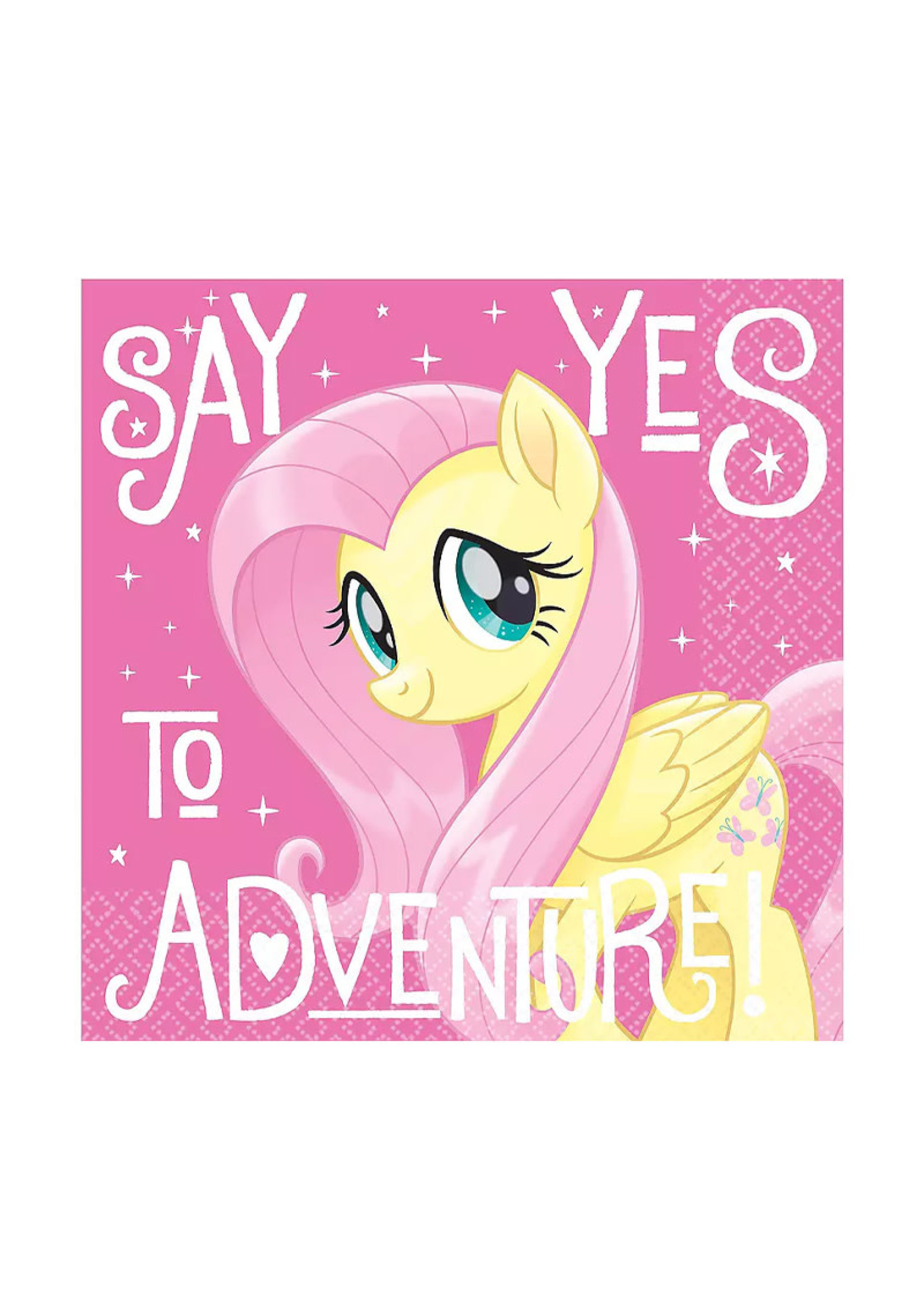 My Little Pony Fluttershy Lunch Napkins 16ct