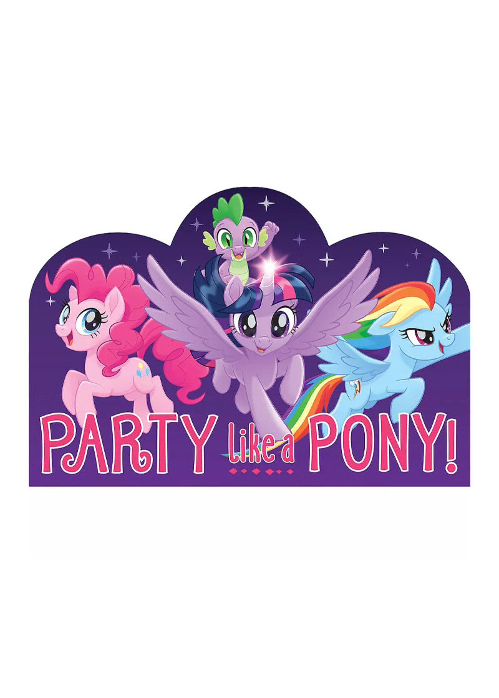 "My Little Pony ""Party Like A Pony"" Invitations 8ct"