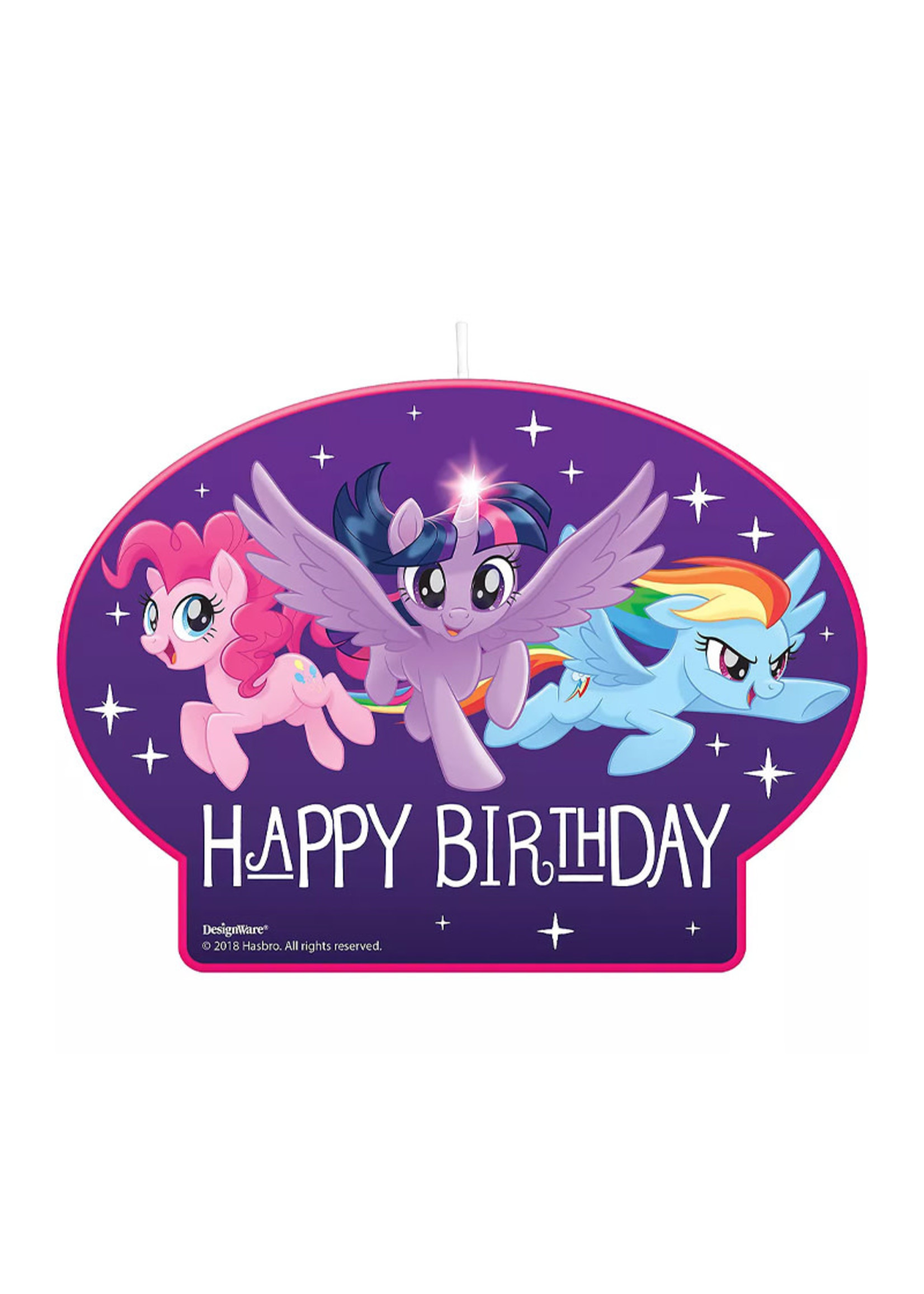 My Little Pony Birthday Candle