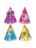 Mini Prismatic My Little Pony Party Hats 8ct