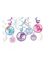 Blue, Pink & Purple My Little Pony Swirl Decorations 12ct
