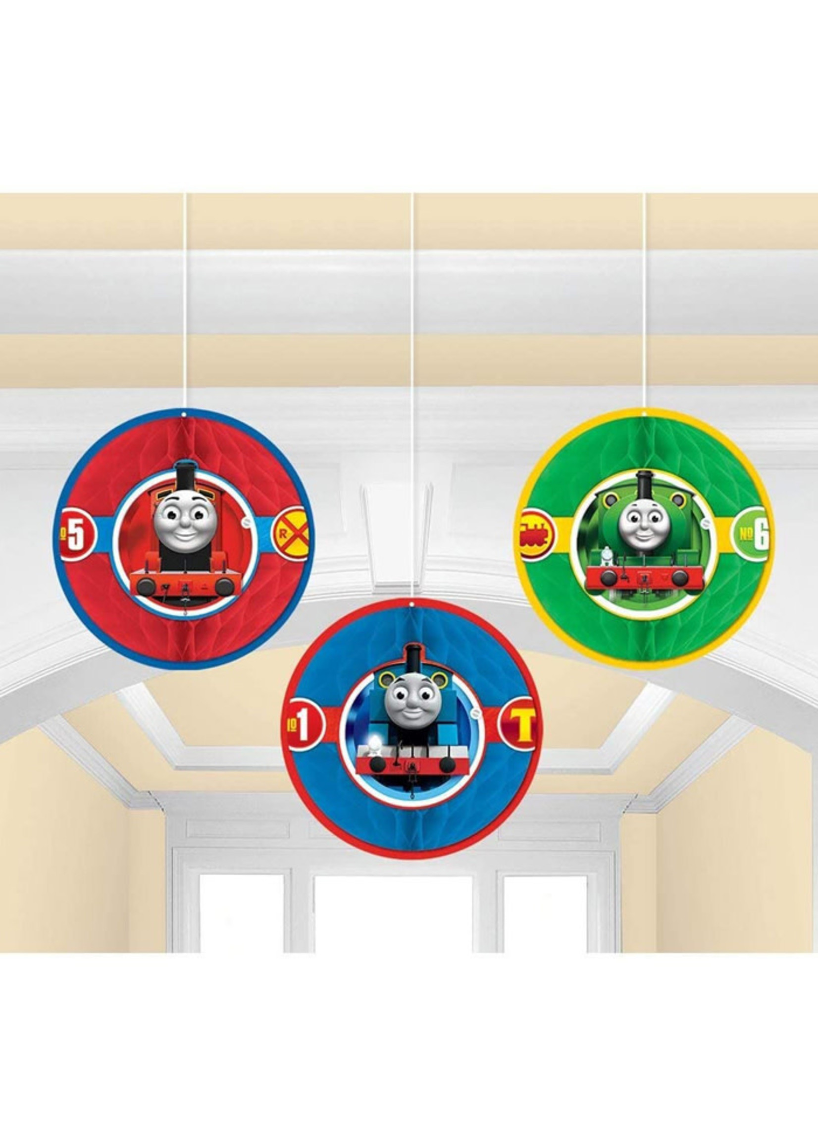 Thomas All Aboard Honeycomb Decorations 3ct