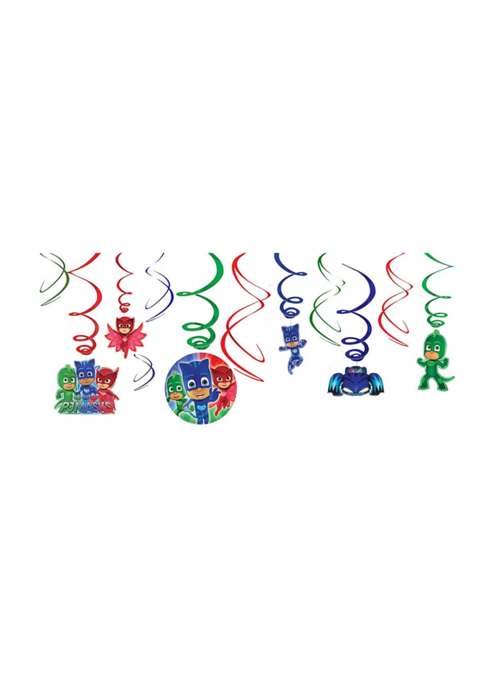 PJ Masks Swirl Decorations 12ct