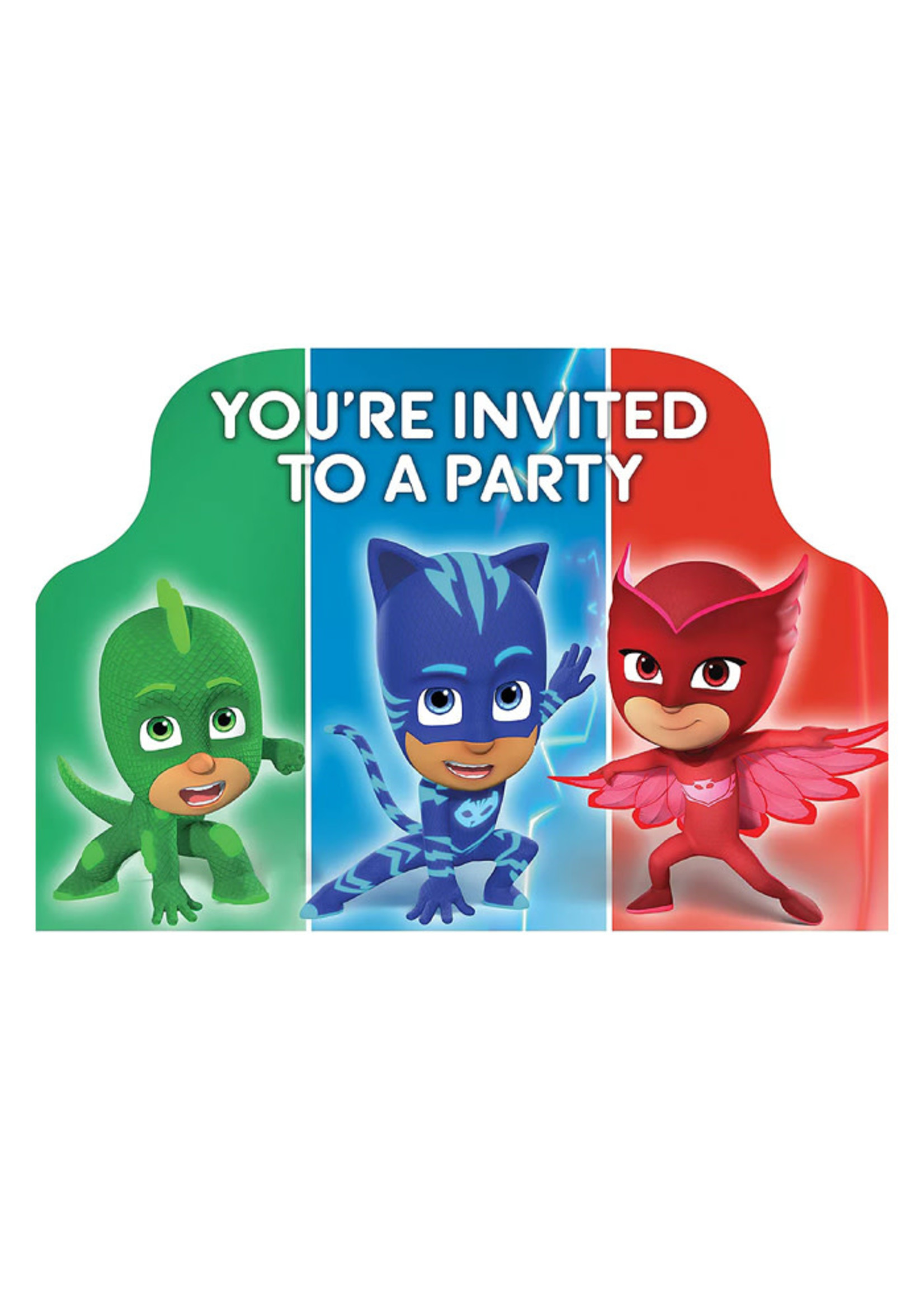 PJ Masks Invitations 8ct