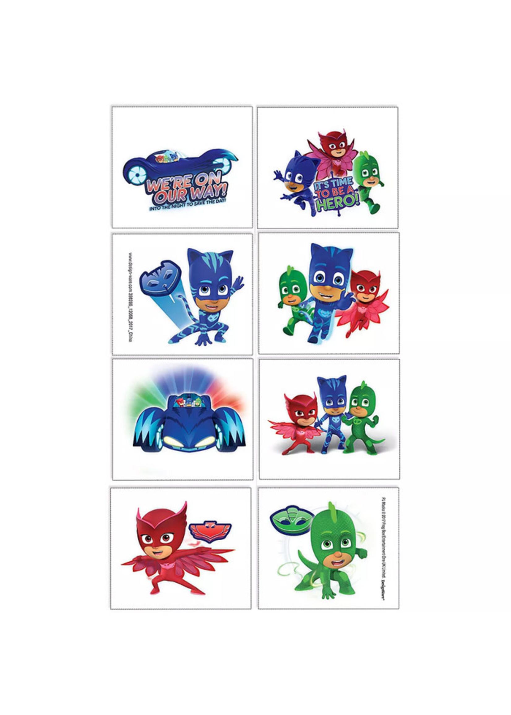 PJ Masks Tattoos 1 Sheet