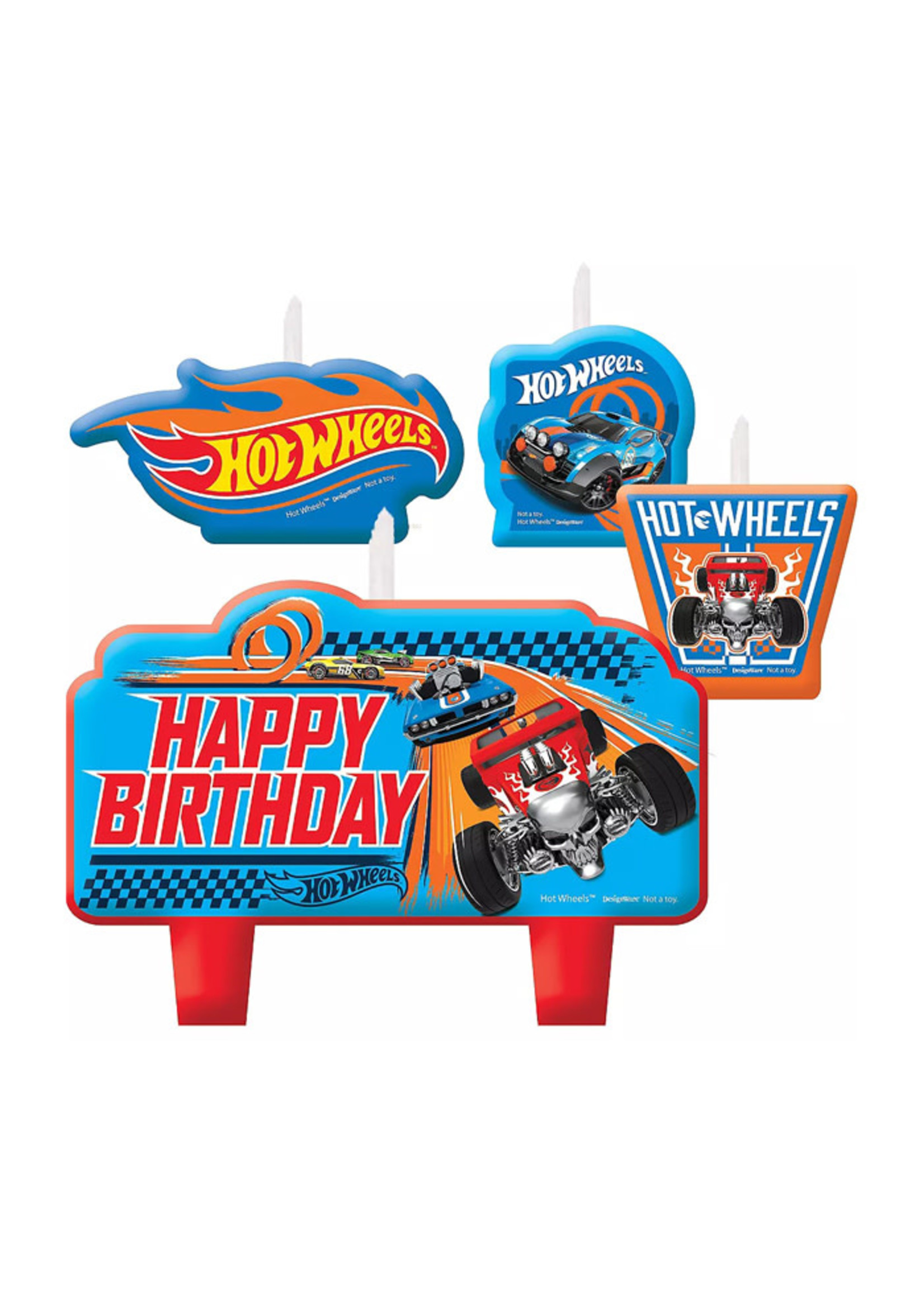 Hot Wheels Birthday Candles 4ct
