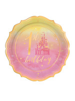 "Disney Princess ""Once Upon a Time"" 1st Birthday Dessert Plates - 8ct"