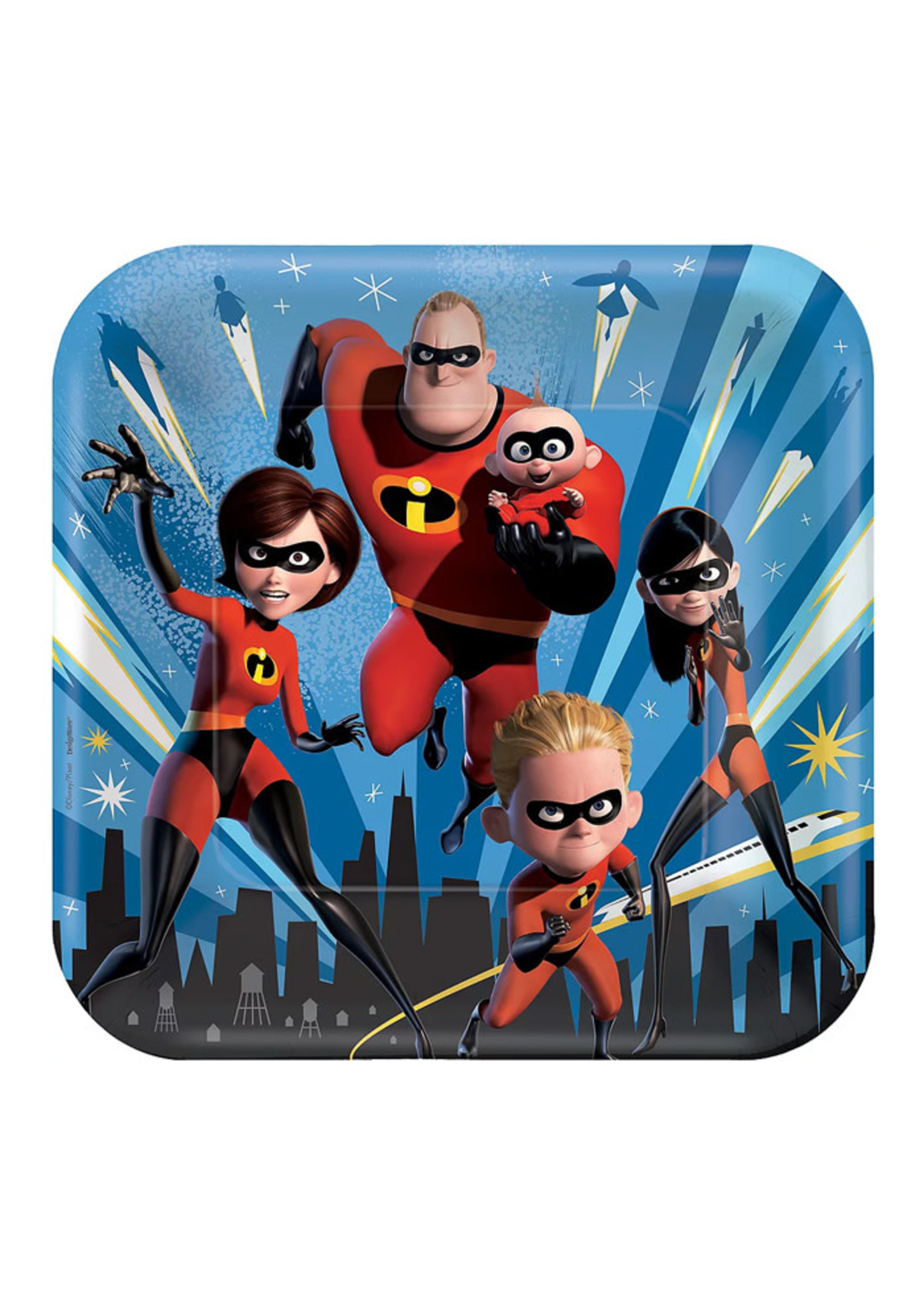 Incredibles 2 Lunch Plates 8ct