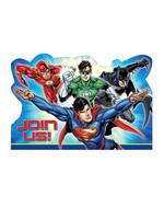Justice League Postcard Invite - 8ct
